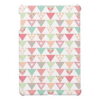 Multiple Pastel Triangles Pattern Case For The iPad Mini