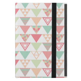 Multiple Pastel Triangles Pattern Cover For iPad Mini