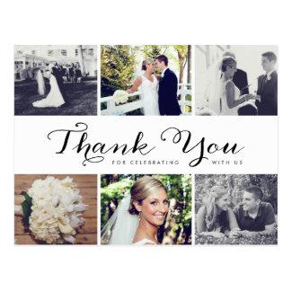 Multiple Photo Wedding Thank You Postcard