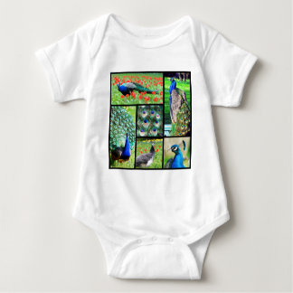 Multiple photos Indian peafowls Baby Bodysuit