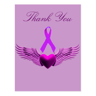 (multiple products selected ,Purple Wings of Love_ Postcard