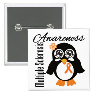 Multiple Sclerosis Awareness Penguin Button