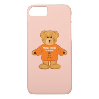 Multiple Sclerosis Awareness Teddy in Sweater iPhone 7 Case