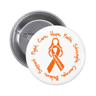 Multiple Sclerosis Fight Cure Hope Logo 2 Inch Round Button