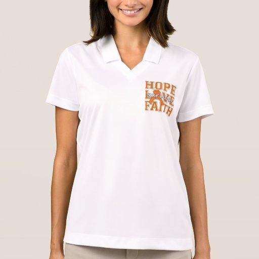 Multiple Sclerosis Hope Love Faith Survivor Polo T-shirts