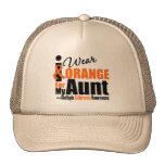 Multiple Sclerosis I Wear Orange For My Aunt Mesh Hat