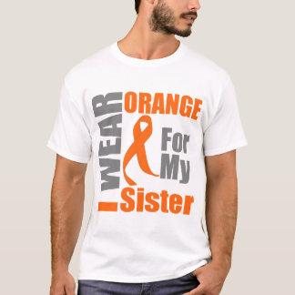 Multiple Sclerosis I Wear Orange Ribbon Sister T-Shirt