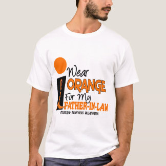 Multiple Sclerosis MS Orange For My Father-In-Law T-Shirt