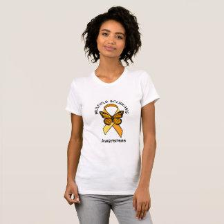 Multiple Sclerosis Orange Awareness Butterfly T-Shirt
