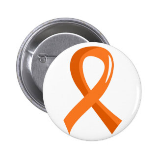 Multiple Sclerosis Orange Ribbon 3 2 Inch Round Button