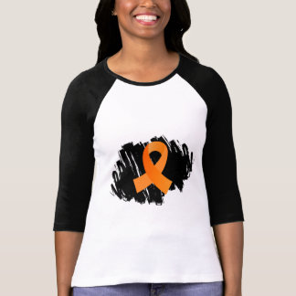 Multiple Sclerosis Orange Ribbon With Scribble T-Shirt