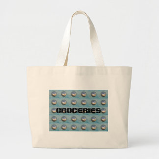 Multiple Silver Spheres Large Tote Bag
