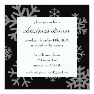 Multiple Snowflakes Christmas Invitations (Black)