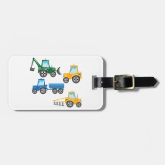 Multiple Tractors Luggage Tag