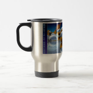 Multiple Worlds Many Coffees Futuristic Travel Mug