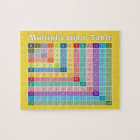 Multiplication Table for Teachers and Math Geeks Jigsaw Puzzle