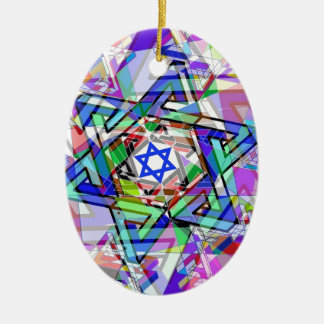 Multiplicity of the Star of David Ceramic Oval Ornament