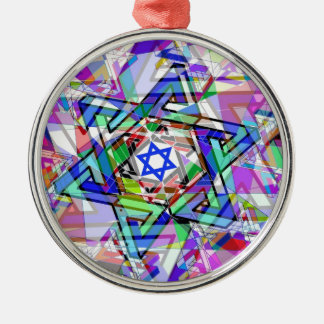 Multiplicity of the Star of David Silver-Colored Round Ornament