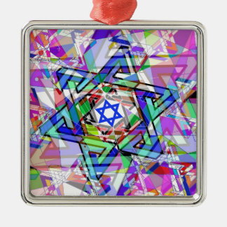Multiplicity of the Star of David Silver-Colored Square Ornament