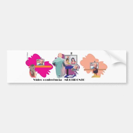 MULTIPONTO teleconferencia multipoint professor Bumper Stickers
