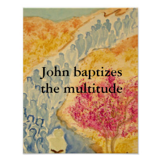 Multitude Baptized Poster
