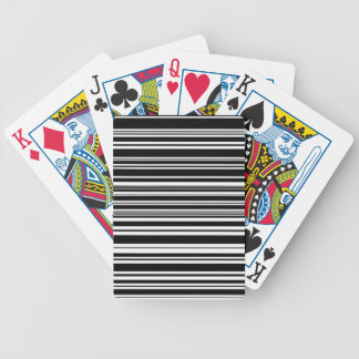 Multitudes of Uneven Black and White Stripes Bicycle Playing Cards