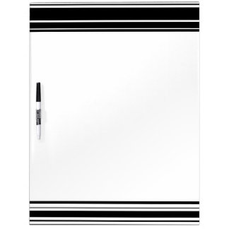 Multitudes of Uneven Black and White Stripes Dry Erase Board