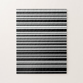 Multitudes of Uneven Black and White Stripes Jigsaw Puzzle