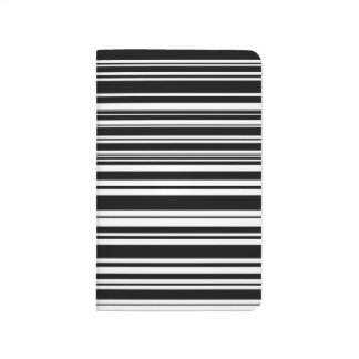 Multitudes of Uneven Black and White Stripes Journal