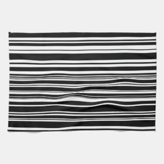 Multitudes of Uneven Black and White Stripes Kitchen Towel