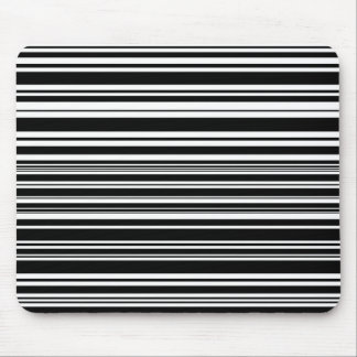 Multitudes of Uneven Black and White Stripes Mouse Pad