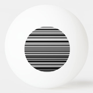 Multitudes of Uneven Black and White Stripes Ping Pong Ball