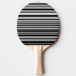 Multitudes of Uneven Black and White Stripes Ping Pong Paddle