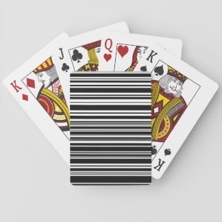Multitudes of Uneven Black and White Stripes Playing Cards