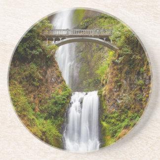 Multnomah Falls Along The Columbia River Gorge 2 Coaster