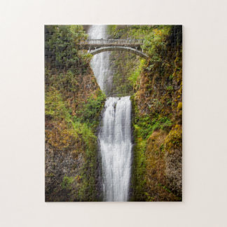 Multnomah Falls Along The Columbia River Gorge 2 Jigsaw Puzzle