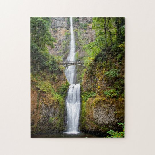 Multnomah Falls Along The Columbia River Gorge Jigsaw Puzzle