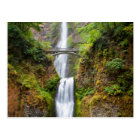 Multnomah Falls Along The Columbia River Gorge Postcard
