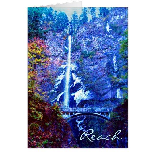 Multnomah Falls Bridge Greeting Cards