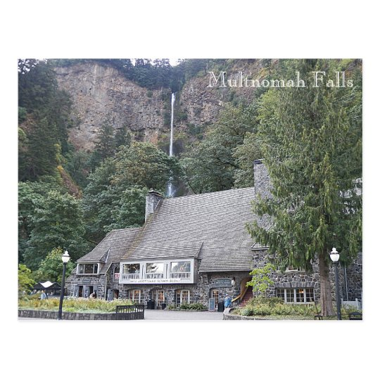 Multnomah Falls Lodge Travel Photo Postcard