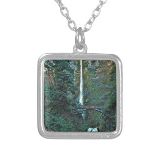 Multnomah Falls Portland Oregon Silver Plated Necklace