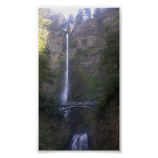 Multnomah Falls Waterfall Poster