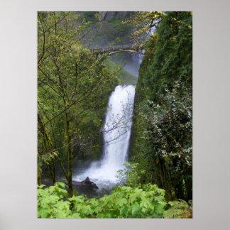Multnomah Waterfall Poster
