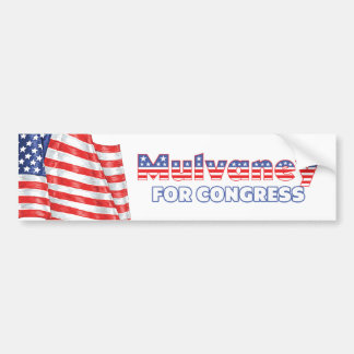 Mulvaney for Congress Patriotic American Flag Bumper Sticker