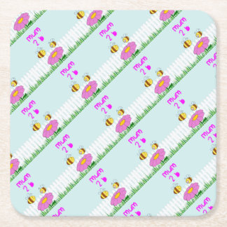 MUM 2 B PARTY SUPPLIES FOR THE BEST BABY SHOWER SQUARE PAPER COASTER