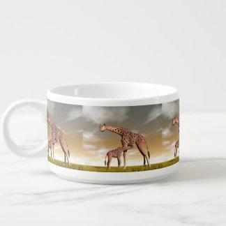Mum and baby giraffe - 3D render Bowl