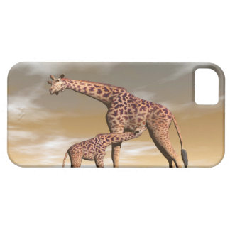 Mum and baby giraffe - 3D render Case For The iPhone 5