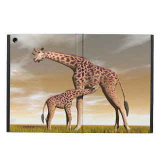 Mum and baby giraffe - 3D render iPad Air Case