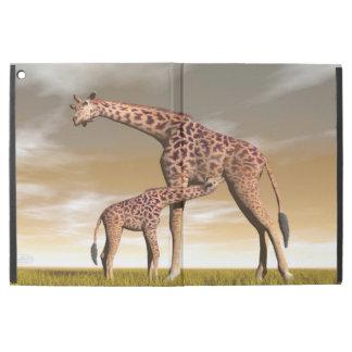 "Mum and baby giraffe - 3D render iPad Pro 12.9"" Case"