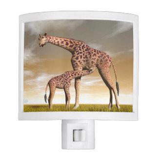 Mum and baby giraffe - 3D render Nite Lights